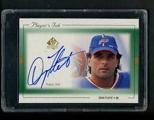 1999 Doug Flutie Upper Deck SP Autographed Football Card Buffal Bills