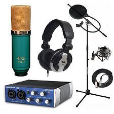 Presonus AudioBox Home Recording Bundle MXL V67G Mic Stand Filter MH110 Filter