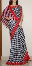 Bollywood Partywear Hand loom pure Cotton Traditional Indian Ethnic Sari Saree