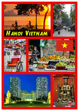 HANOI, VIETNAM, ASIA - SOUVENIR NOVELTY FRIDGE MAGNET - GIFTS - SIGHTS - FLAGS