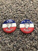 Vintage Pinback Button Go Pogo Political Estate of Walt Kelly 1980 Two A