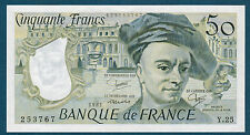 FRANCE - 50 FRANCS QUENTIN DE LA TOUR Fayette n°67.7 de 1981 en NEUF Y.25 253767