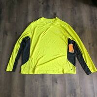 Brand New Men's Champion Duo Dry Yellow Long Sleeve Active Shirt Size 2XL