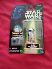 STAR WARS THE POWER OF THE FORCE R2-D2 WITH HOLOGRAPHIC PRINCESS LEIA  COMMTECH
