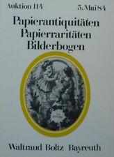 ANTIQUITÄTEN PAPIER von BOLTZ BAYREUTH 1984 auf 56 Seiten über 550 Positionen