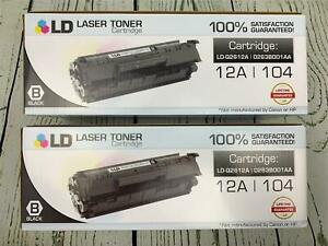 LD Compatible Toner Cartridge Replacement for Canon 124 Black 2Pack