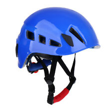 Rock Climbing Safety Helmet, Scaffolding Construction Rescue Hard Hat Blue