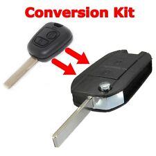 2 Button Flip Remote Key Fob Case Shell For Peugeot 407 107 307 CITROEN C2 C3 C4