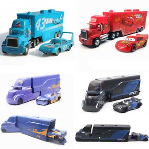 Disney Pixar Cars Lightning McQueen Mack Haulers Truck Racers Diecast Toy Loose