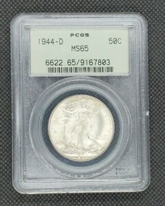 1944-D Walking Liberty Half Dollar | PCGS MS65 OGH