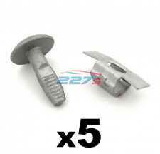 Citroen Metal Engine Undertray Fasteners / Shield Clips- 5x Bolts & 5x Clasps