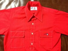 VTG Manhattan The Bum Shirt Half Button Front 2 Pocket Kodel Poly and Cotton S
