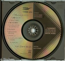 I Miss You Hi-fi Set Japan CA35-1028 Black Triangle CD CBS Sony Rare 1983