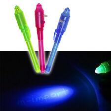 UV Schwarzlicht Geheimstift Spicker Unsichtbare Tinte Stift wählbar