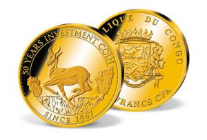 2016 50th Anniversary 1st Bullion Solid Gold coin 0.5 grams - 11 mm COA Capsule.