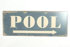"Blechschild ""Pool"" Swimming Schwimmbad Bar Diner Kneipe Pub 50s 15x39cm neu"
