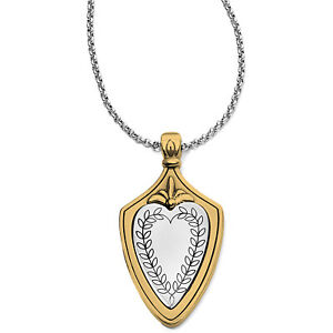 NWT Brighton MEDAILLE CREST Shield Reversible Pendant Necklace MSRP $72
