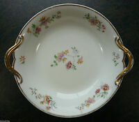 CH. Field Haviland Limoges GDA France Cake Plate / Bowl with Flowers Motif
