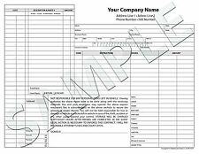 250 Customized Auto Body Repair Invoice  Carbonless NCR Forms Sets