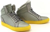 Cipher Libertine Silver Yellow Men's High Top Lace-Up Trainers Sneakers Shoes