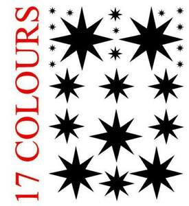 Star decal Stickers Various sizes Card Making Craft Envelope Seals Christmas