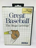 Great Baseball The Mega Cartridge - Sega Master System Game - Manual Included