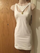 02ee467a2f2 Versace Lion Head Cut out White Mini Dress UK 6 it 38