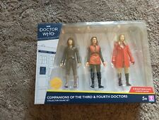 Doctor Who Companions of the 3rd & 4th Doctors Collector Figure Set B&M New