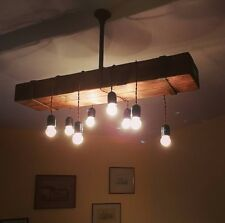 lampadario chandelier wood rustico legno