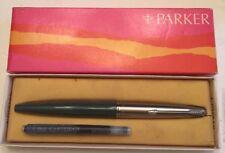 VTG Parker 45 Aerometric Fountain Pen Blue Barrel w/ Chrome Cap