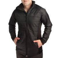 High Sierra Molo Men's Hybrid Insulated Full Zip Jacket Lightweight Black Coat
