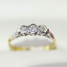 Vintage engagement ring, Handmad engagement ring era, 18ct and Platinum Diamonds