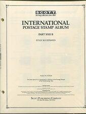Scott International Postage Stamp Album # 22B 1986 KUWAIT - ZIMBABWE 462 PAGES
