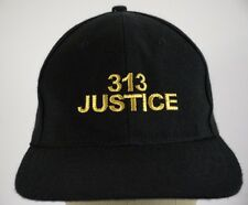 313 Justice Free Legal Advice Detroit Black Baseball Hat Cap Fitted Stretch S/M