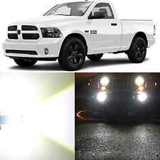 Alla Lighting Fog Light 9006 White LED Bulb for 13~15 Ram 1500 2500 W/ Projector