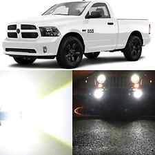 Alla Lighting Fog Light 9006 White LED Bulb for 13~15 Ram 1500 2500 W/ Projector