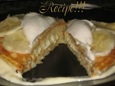 "☆Vanilla Cream Cheese Stuffed & Stacked Pancakes/Filling/Whip Cream ""RECIPES""!☆"