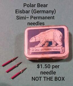Polar Bear Vintage Gramophone needles, Simi-permanent. $1.50 ea needle, NOT BOX