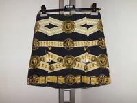 Versace  Versus Gonna Skirt  Print  Belt  Pin Lion  size 40