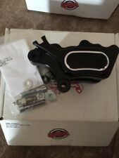 GMA 525m-B 4-Piston front Caliper black harley softail dyna 00-12 billet single