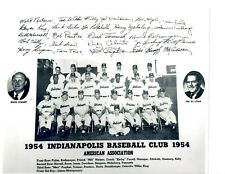1954 INDIANAPOLIS INDIANS 8X10 TEAM PHOTO  BASEBALL INDIANA HERB SCORE COLAVITO
