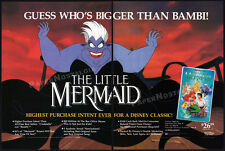 THE LITTLE MERMAID__Orig. 1990 Trade print AD movie promo__Disney__Industry Only