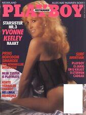 Dutch Playboy Magazine 1987-05 Anna Clark, Yvonne Keeley, Playmate Sisters ...