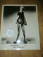 Vintage Ricki Covette Tallest Exotic Dancer Burlesque Stripper 8x10 Photos BW
