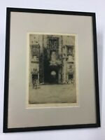 David Young Cameron Etching Mar's Wark, Stirling Scotland 1907