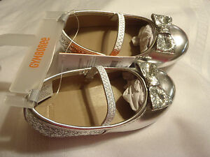 Gymboree Very Merry Toddler Size 7 6 Choice Silver Glitter Dress Shoes Holiday