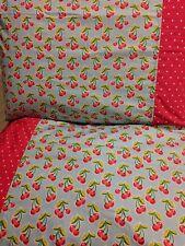 Cherry pattern 100% new Cotton handmade Pillowcase one pair