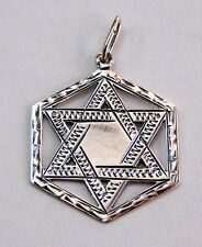 Tribes # sterling silver 925 Judaica Jewish Star of Magen David pendant 12