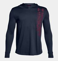 NWT Under Armour UA Tech Textured Boys' Long Sleeve Hoodie Navy Youth Small New