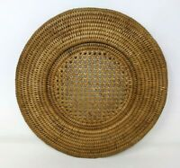 VTG African Makenge Zambia Mbunda Handwoven Root Wedding Basket Tray Lid #1 BR20